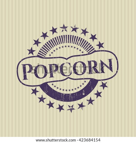 Popcorn rubber grunge seal