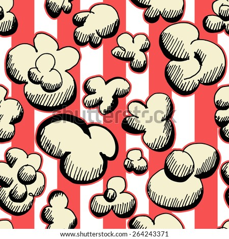popcorn seamless pattern as