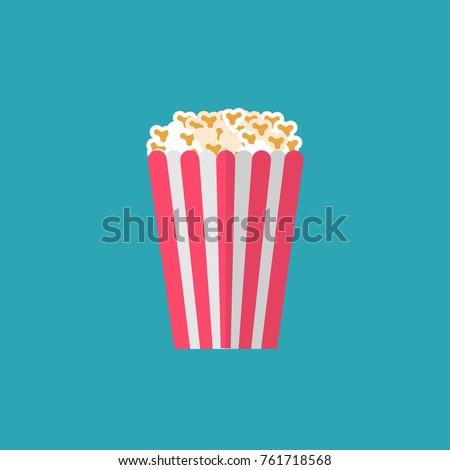 Popcorn Snack. Vector Illustration. Flat Design