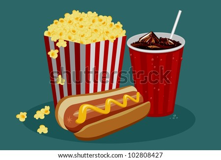 Stock Photo Dog Eating Popcorn