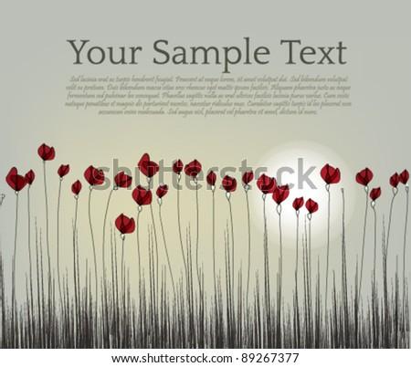 poppy flower design   layout