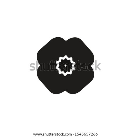 poppy flower silhouette vector