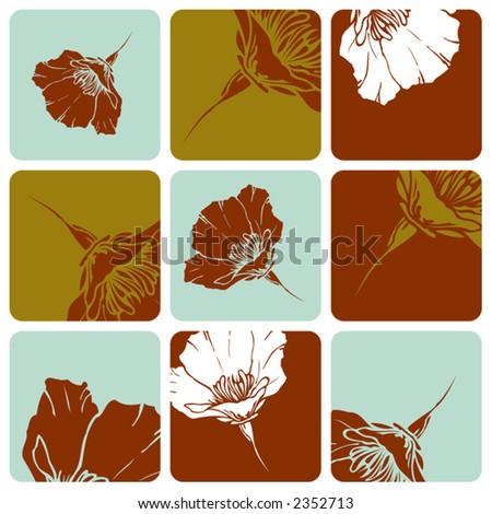 Picturepoppy Flower on Poppy Flower Squares Stock Vector 2352713   Shutterstock