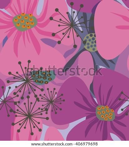 poppy flowers  a seamless