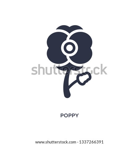 poppy isolated icon simple