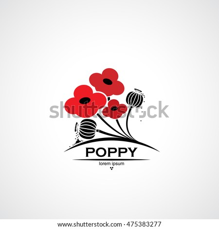 poppy symbol with flowers and