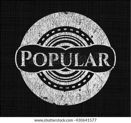 Popular chalkboard emblem