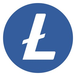 Popular cryptocurrency (altcoin)  icon vector illustration   Litecoin [LTC]