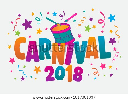 Popular Festive In Brazil Carnival Title With Colorful Party Elements Travel Destination