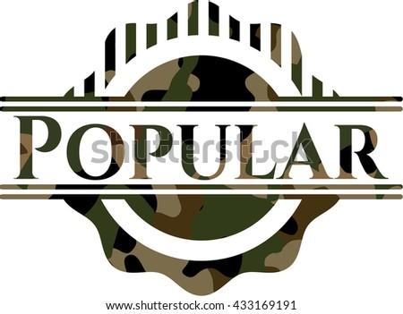 Popular on camouflaged pattern