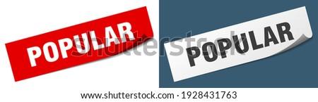 popular paper peeler sign set. popular sticker