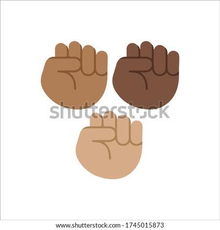Popular social media Black History Month emoji Black Lives Matter hashtag social media icon isolated vector design
