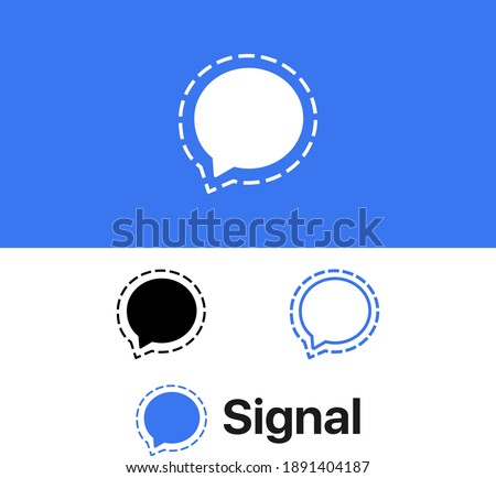 Popular social media Chat message logo icon design  logo variations design vector isolated file for free download