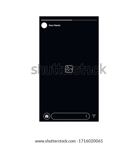 Popular social Media stories Interface Post.  Vector Illustration isolated vector design