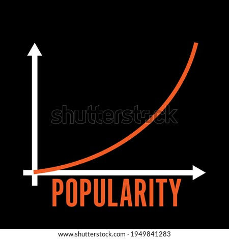 popularity exponential growth of popularity - design template