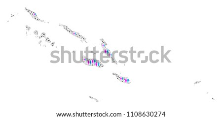 population solomon islands map