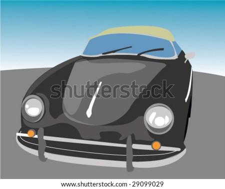 porsche 356 convertible vector