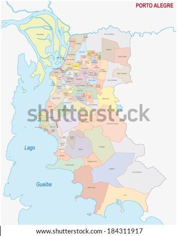 port alegre administrative map