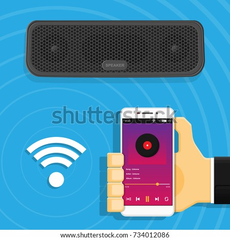 Portable Bluetooth Wireless Speaker Connect Smartphone Player Music