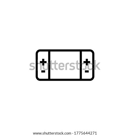 Portable Game console switch icon  in black line style icon, style isolated on white background