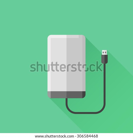 portable hard drive disk flat