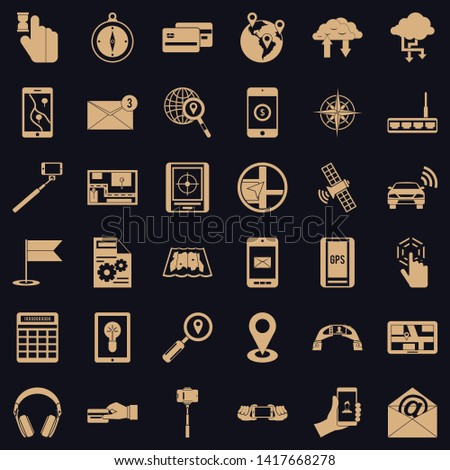 Portable widget icons set. Simple set of 36 portable widget vector icons for web for any design
