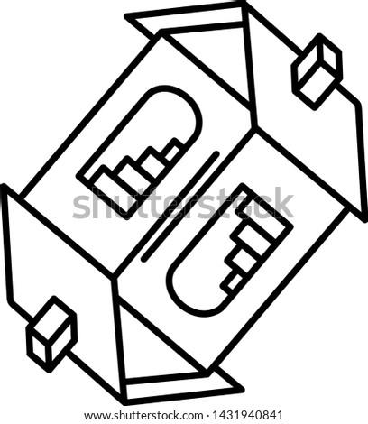 portal concept icon  one house