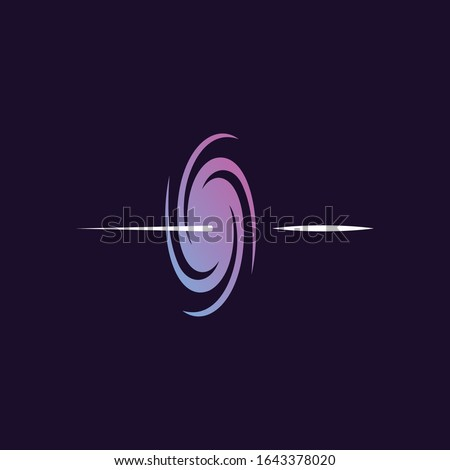 Portal, galaxy, space vector design templete