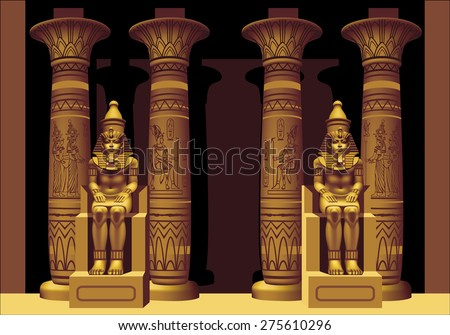 portal with two pharaohs in