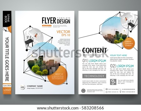Portfolio design template vector. Minimal brochure report business flyers magazine  poster. Abstract black point and line network shape on cover book presentation. City concept in A4 size layout.