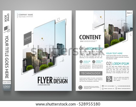 Portfolio design template vector.Minimal brochure report business flyers magazine poster.Abstract black and white square cover book presentation.City concept on A4 size layout.