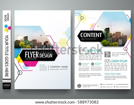 abstract blue company flyer template download free vector art