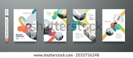 Portfolio geometric design vector set. Abstract red liquid graphic gradient circle shape on cover book presentation. Minimal brochure layout and modern report business flyers poster template.