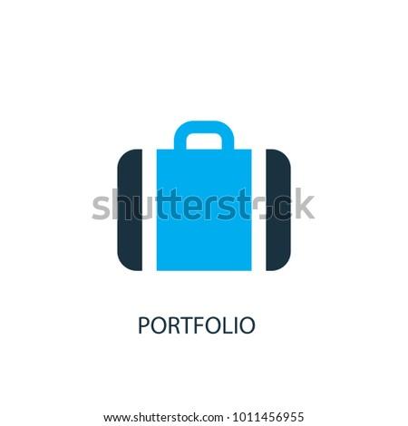 Portfolio icon. Logo element illustration. Portfolio symbol design from 2 colored collection. Simple Portfolio concept. Can be used in web and mobile.