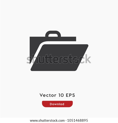 Portfolio icon, portfolio symbol icon vector, briefcase, bag, baggage icon. Linear style sign for mobile concept and web design. Briefcase symbol illustration. Pixel vector graphics - Vector.