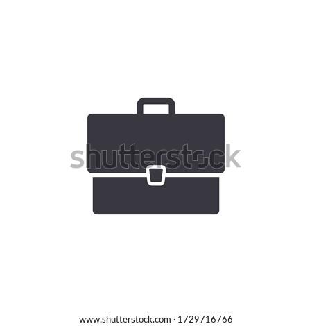 Portfolio vector icon isolated on white in flat style. Case symbol. Briefcase illustration. Stockfoto ©