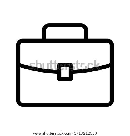 portfolio vector thin line icon  ストックフォト ©