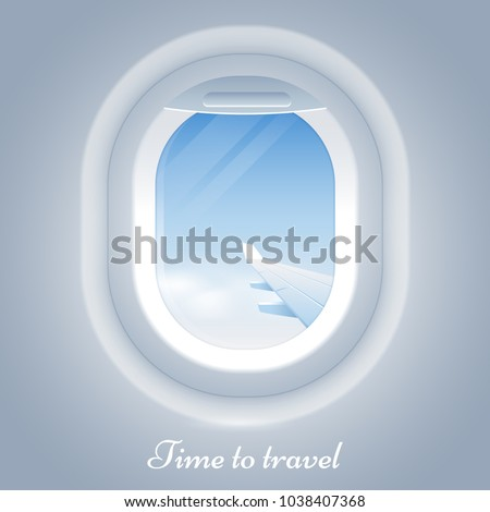 porthole airplane vector