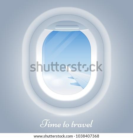 porthole airplane vector