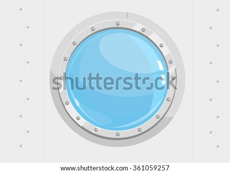 porthole window of sailing