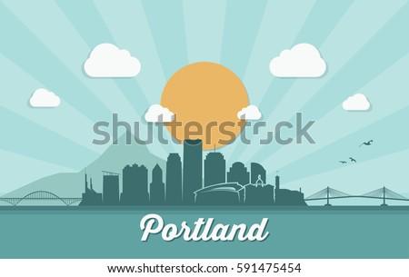 portland skyline   oregon  ...