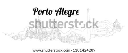 porto alegre city vector