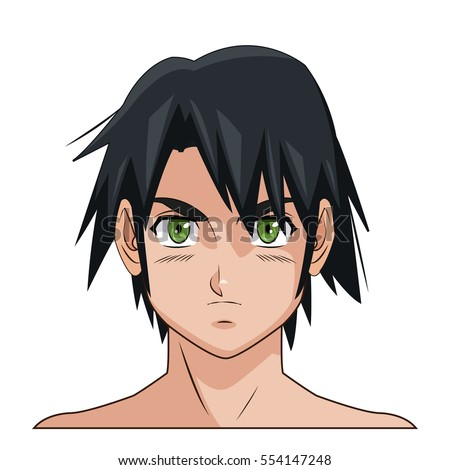 portrait face manga anime male