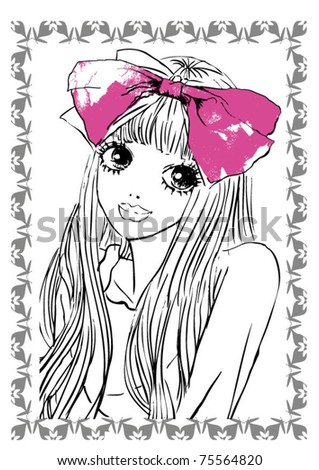 portrait illustration girl