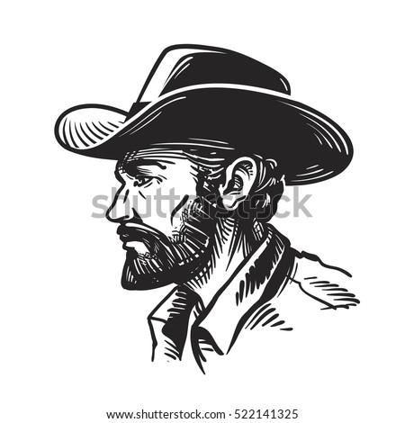 portrait man in cowboy hat