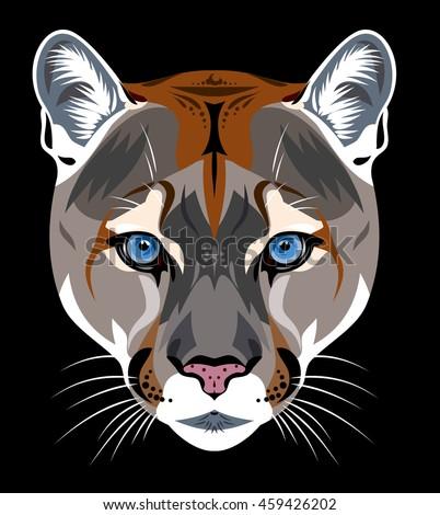 portrait of a black cougar