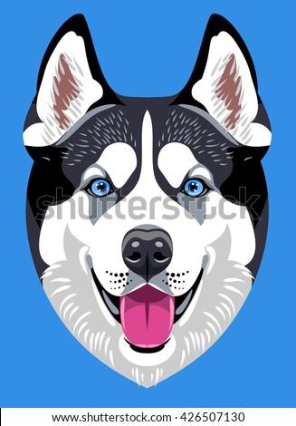 portrait of a husky dog breed