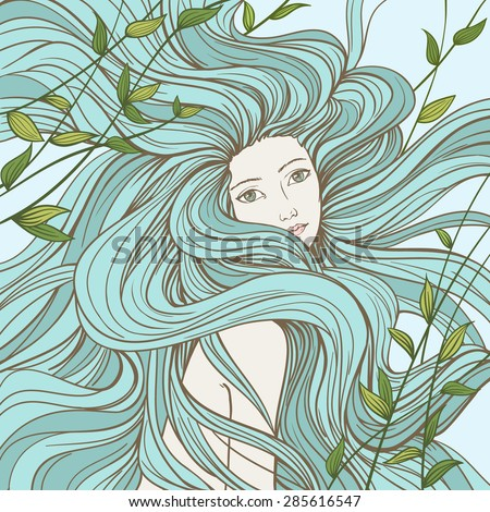 portrait of a mermaid with