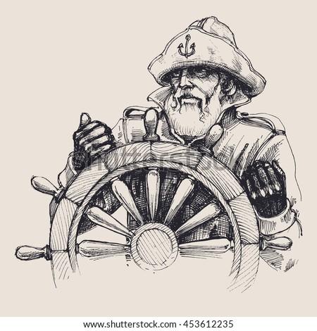 portrait of a sailor vector
