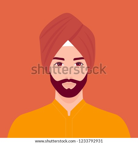 portrait of a sikh man the